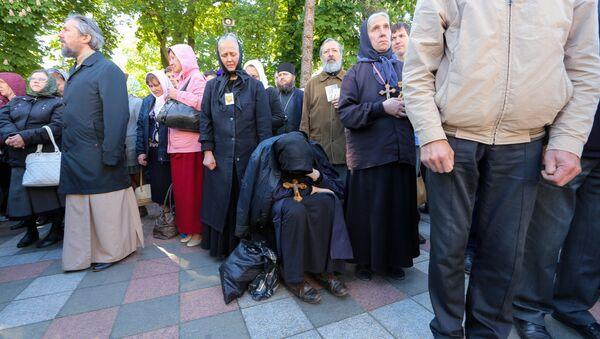 Акция прихожан Украинской православной церкви Московского патриархата в Киеве