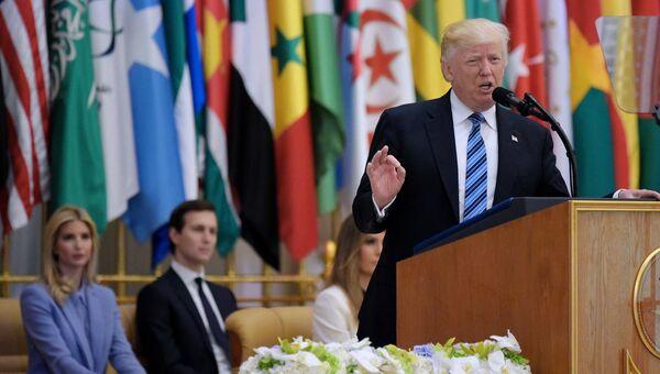 Дональд Трамп на арабском саммите в Эр-Рияде. 21 мая 2017