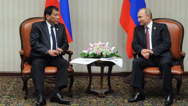Президент РФ Владимир Путин и президент Филиппин Родриго Дутерте. Архивное фото