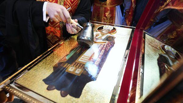 Ковчег с мощами святителя Николая Чудотворца. Архивное фото