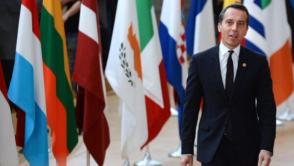 Федеральный канцлер Австрии Кристиан Керн. Архивное фото