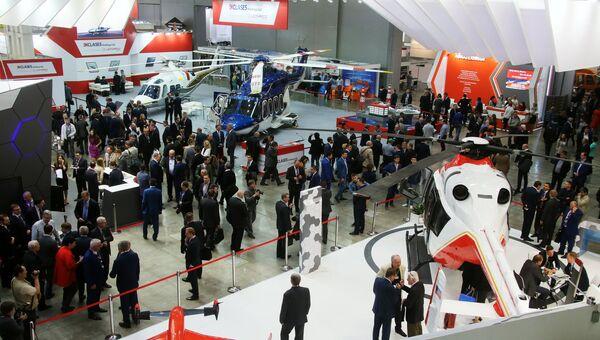X международная выставка вертолетной индустрии HeliRussia в Международном выставочном центре Крокус Экспо в Москве