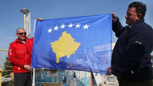Флаг самопровозглашенной республики Косово