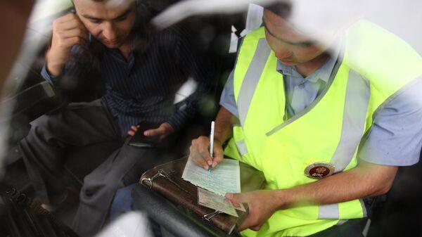 Оформление протокола нарушения инспектором ДПС ГИБДД УВД