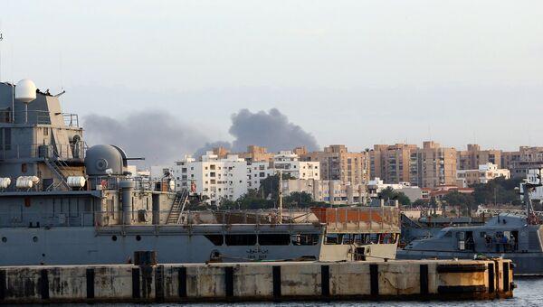 Дым над Триполи. Архивное фото