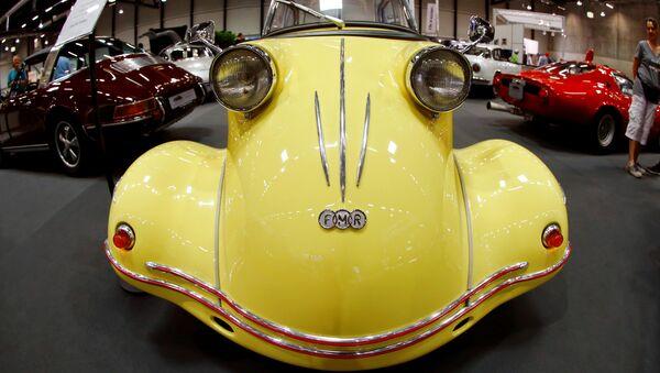 Автомобиль Messerschmitt Tiger FMR TG 500 на выставке классических автомобилей в швейцарском Люцерне