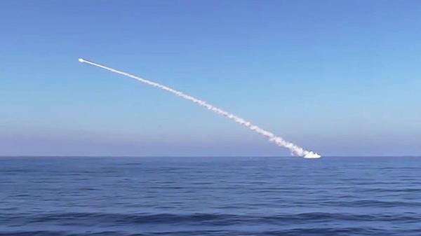 Запуск крылатых ракет Калибр по объектам Исламского государства (ИГ, запрещена в РФ) в Сирии