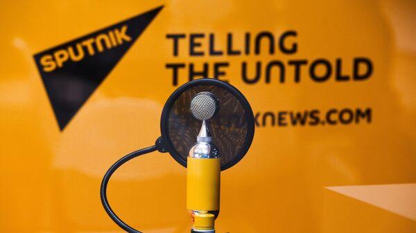 Студия радио Sputnik в Экспофоруме накануне открытия Санкт-Петербургского международного экономического форума 2017
