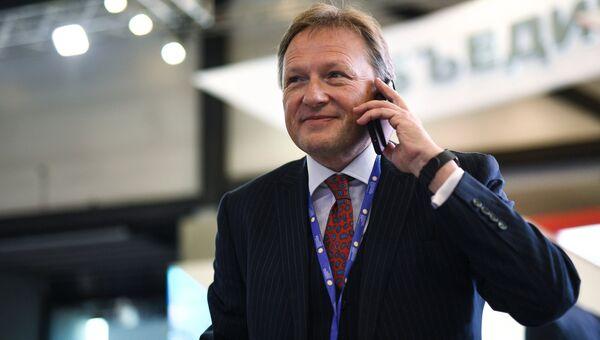 Уполномоченный при президенте РФ по защите прав предпринимателей Борис Титов на ПМЭФ. 1 июня 2017