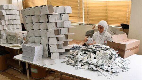 Фармацевтическая фабрика на востоке Дамаска в районе Баб аль Шарки