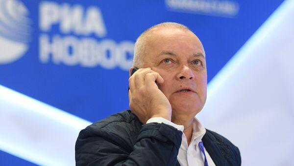 Генеральный директор МИА Россия сегодня Дмитрий Киселев на Санкт-Петербургском международном экономическом форуме 2017