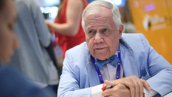 Председатель Beeland Interests Inc. Джим Роджерс на Санкт-Петербургском международном экономическом форуме 2017