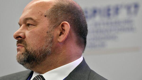Губернатор Архангельской области Игорь Орлов во время панельной сессии на Санкт-Петербургском международном экономическом форуме 2017