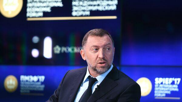 Президент компании РУСАЛ Олег Дерипаска на Петербургском международном экономическом форуме 2017