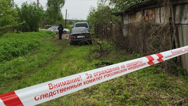 Лента ограждения у дома в садоводческом товариществе 50 лет Октября в поселке Редкино Тверской области