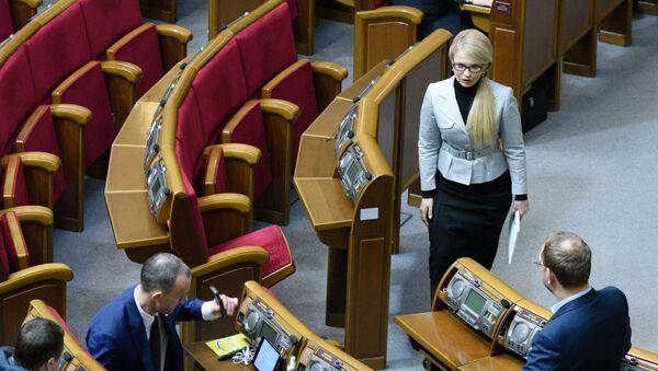 Юлия Тимошенко на заседании Верховной Рады Украины. Архивное фото