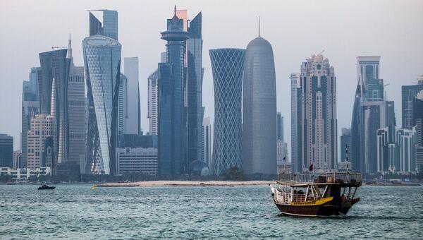 Вид города Доха, Катар