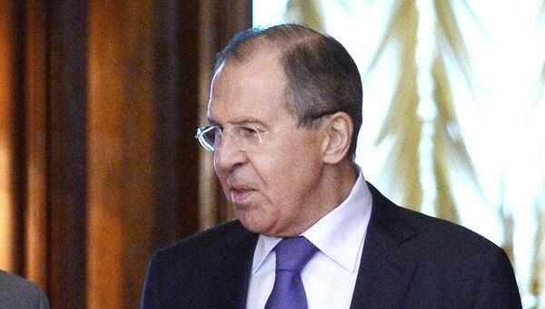 Министр иностранных дел РФ Сергей Лавров на встрече с министром иностранных дел Испании Альфонсо Дастис Кеседо в Москве.