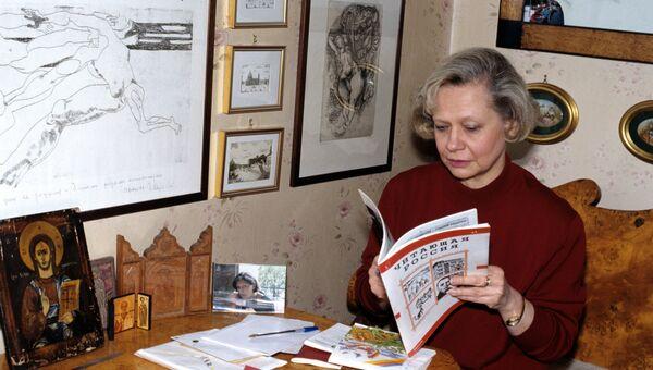 Юлия Хрущева в своей квартире. Архивное фото