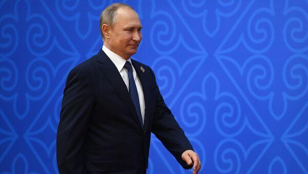 Президент РФ Владимир Путин перед заседанием совета глав государств - членов Шанхайской организации сотрудничества. 9 июня 2017