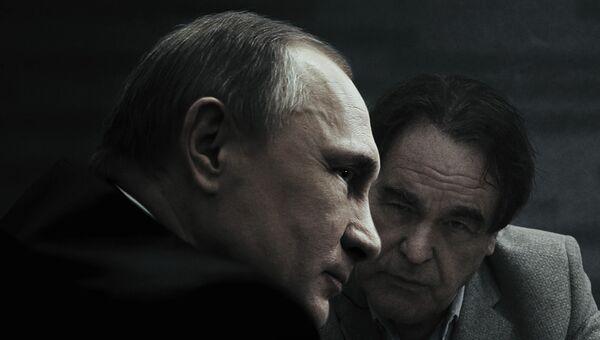 Постер к фильму американского кинорежиссера Оливера Стоуна Интервью с Путиным