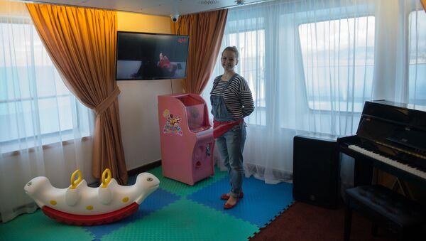 Детская игровая комната на борту круизного лайнера Князь Владимир
