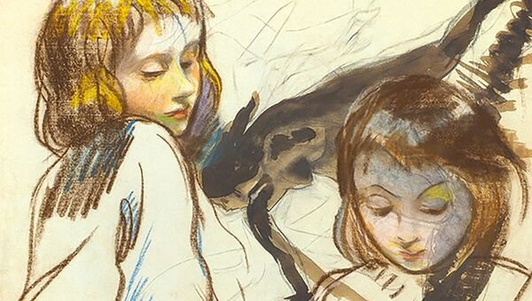 Серебрякова Зинаида Евгеньевна (1884–1967) Таня и Катя. 1910-е — около 1921