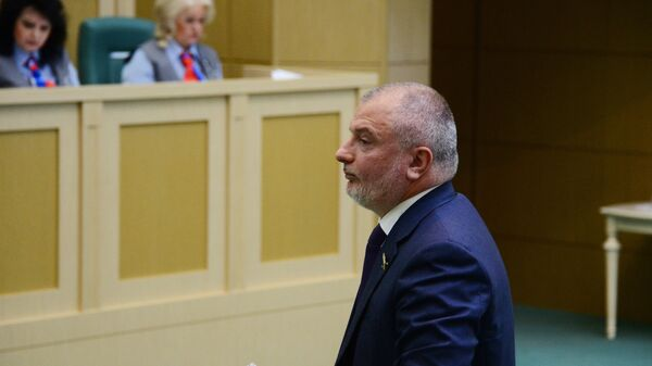 Андрей Клишас на заседании Совета Федерации РФ. 14 июня 2017