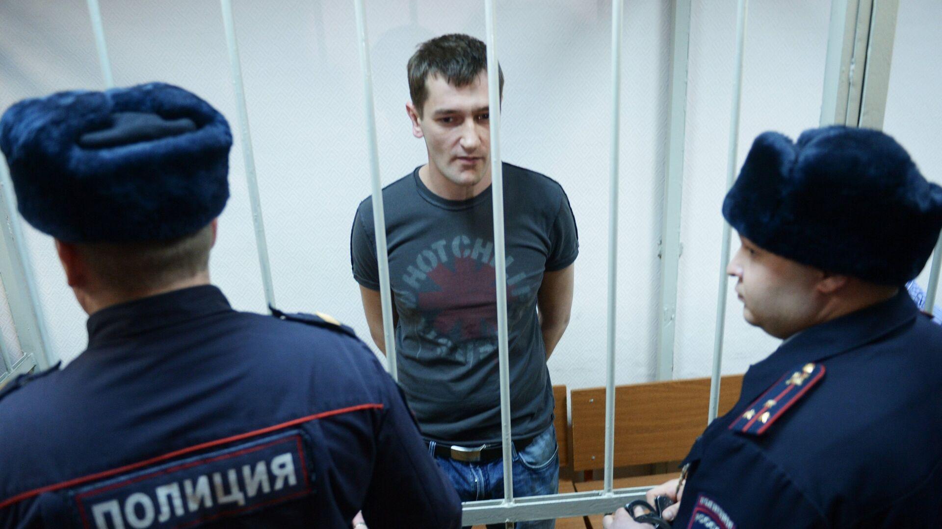 Олег Навальный во время оглашения приговора в Замоскворецком суде Москвы - РИА Новости, 1920, 29.01.2021