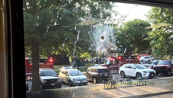 Место нападения на конгрессмена Стива Скализа в Александрии, штат Вирджиния. 14 июня 2017