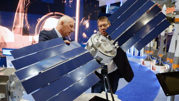 Стенд Роскосмоса на Международном авиасалоне Ле Бурже-2017 . Архивное фото