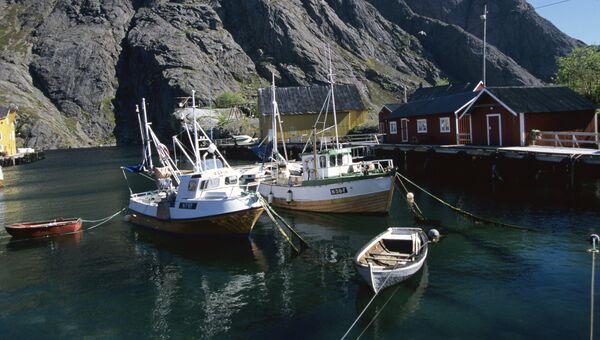 Пристань в районе Тронхейма в Норвегии