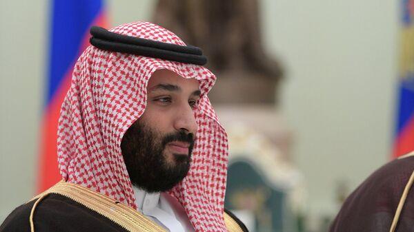 Министр обороны Саудовской Аравии Мухаммед бен Сальман Аль Сауд во время встречи с президентом РФ Владимиром Путиным