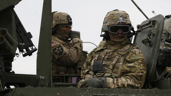 Военнослужащие армии США во время учений в Литве