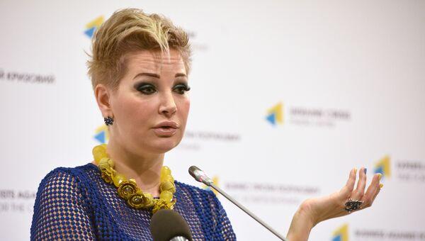 Вдова экс-депутата Госдумы РФ Дениса Вороненкова, оперная певица Мария Максакова