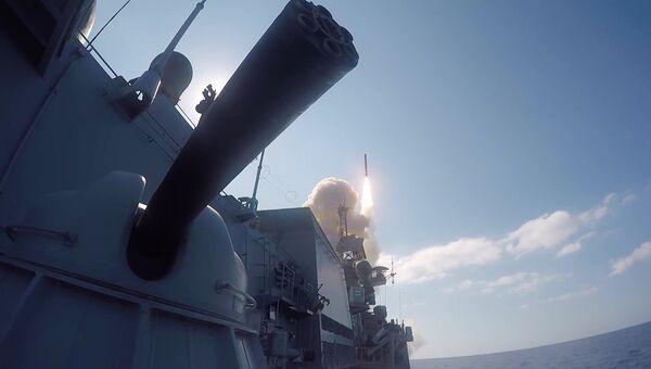 Удар Калибров по объектам ИГ* в Сирии. Архивное фото