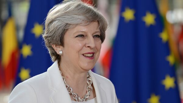 Премьер-министр Великобритании Тереза Мэй на саммите государств и правительств стран-участниц Европейского союза в Брюсселе. 23 июня 2017