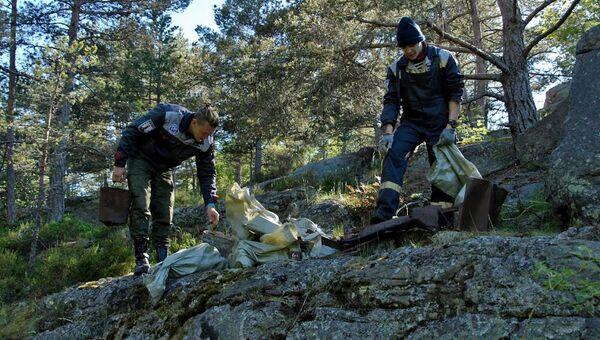 Волонтеры экспедиции Гогланд у верхнего бункера