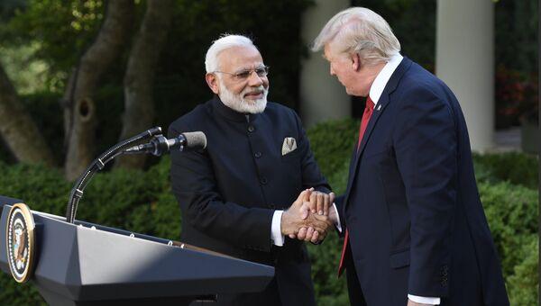 Президент США Дональд Трамп и премьер-министр Индии Нарендра Моди. Архивное фото