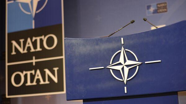 Трибуна в штаб-квартире НАТО