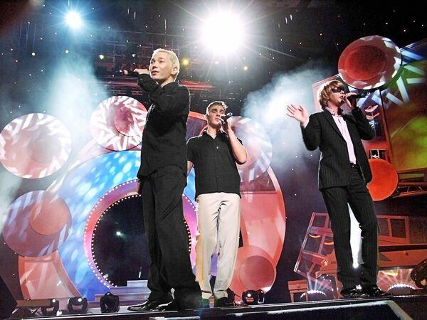 Поп-группа Иванушки International выступает на церемонии вручения Первой национальной премии Здоровое поколение XXI
