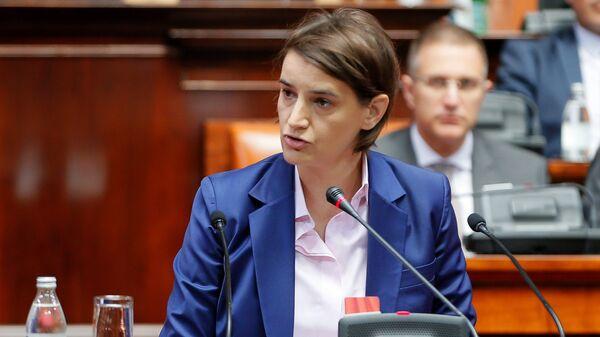 Премьер-министром Сербии Ана Брнабич. Архивное фото