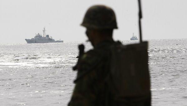 Южнокорейский корабль береговой охраны и морской патруль военно-морского флота. Архивное фото