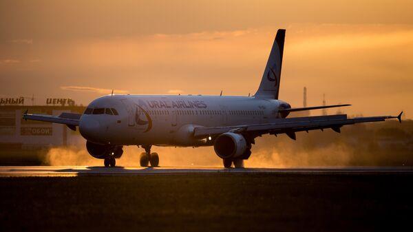 Самолет Airbus A321 авиакомпании Уральские авиалинии