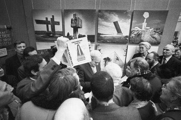Встреча писателей Даниила Гранина и Александра Адамовича с читателями