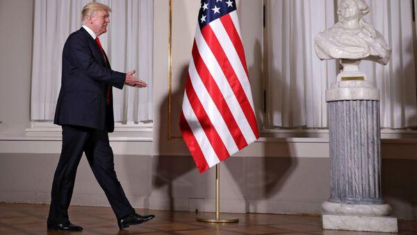 Президент США Дональд Трамп во время визита в Польшу. 6 июля 2017
