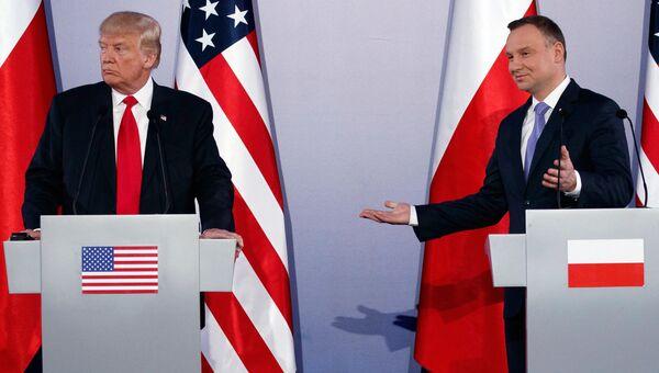 Президент США Дональд Трамп и президент Польши Анджей Дуда. Архивное фото