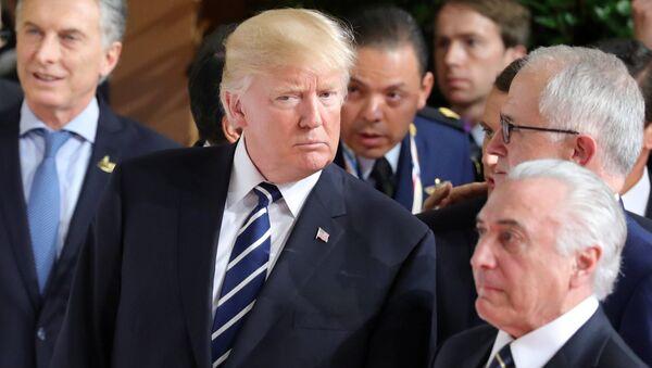 Дональд Трамп на саммите G20 в Гамбурге. 7 июля 2017