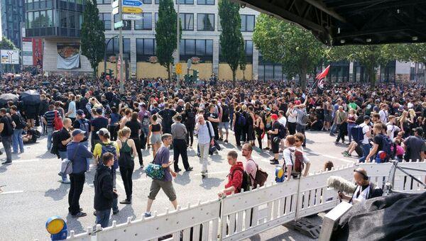 Протесты во время саммита G20 в Гамбурге