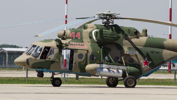 Вертолет Ми-8, названный в честь Героя России Ряфагатя Хабибуллина